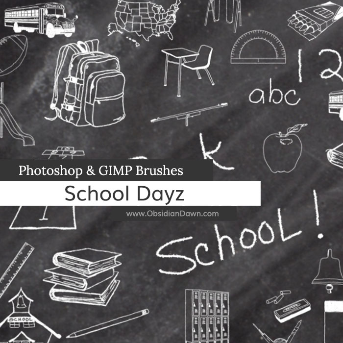 School Dayz Sketches Photoshop and GIMP Brushes