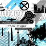 Urban Designs Photoshop Custom Shapes by redheadstock
