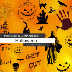 Halloween Vectors Photoshop and GIMP Brushes