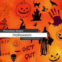 Halloween Photoshop Custom Shapes by redheadstock