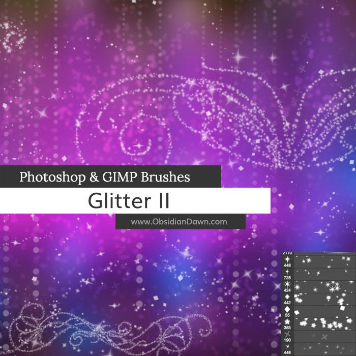 Glitter II Photoshop and GIMP Brushes