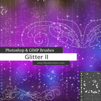 Glitter II Photoshop and GIMP Brushes by redheadstock