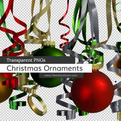 Christmas Ornaments n Ribbons PNGs