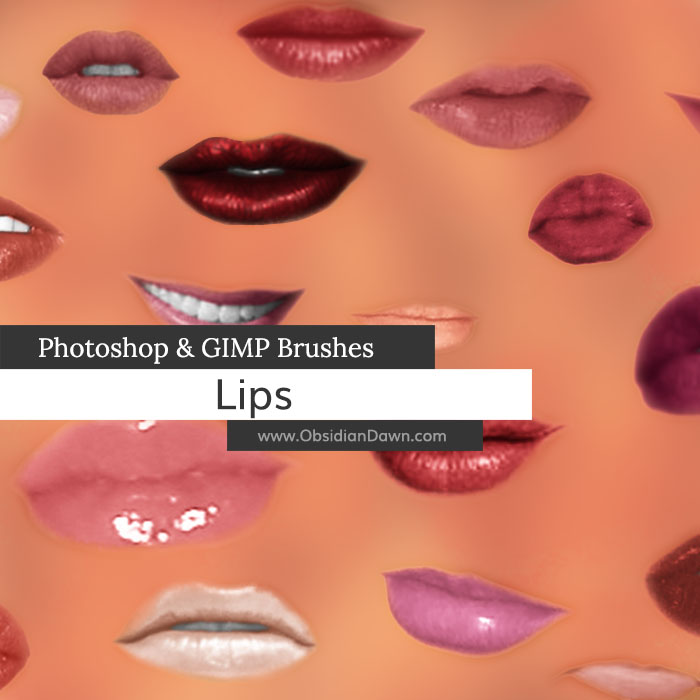 Lips - Mouth Photoshop and GIMP Brushes