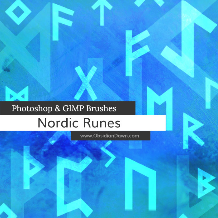 Nordic Runes Photoshop and GIMP Brushes