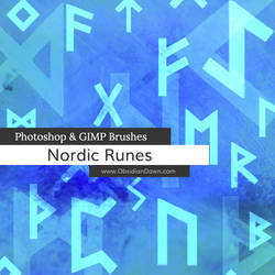 Nordic Runes Photoshop and GIMP Brushes by redheadstock