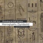 Egyptian Symbols Photoshop and GIMP Brushes