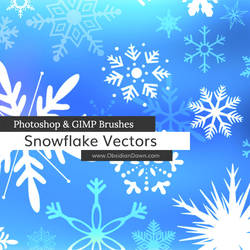 Snowflake Vectors Photoshop and GIMP Brushes