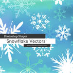 Snowflakes Photoshop Custom Shapes