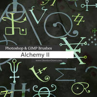 Alchemy II Photoshop and GIMP Brushes by redheadstock