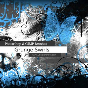 Grunge -n- Swirls Photoshop and GIMP Brushes