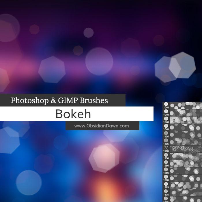 Bokeh Photoshop and GIMP Brushes