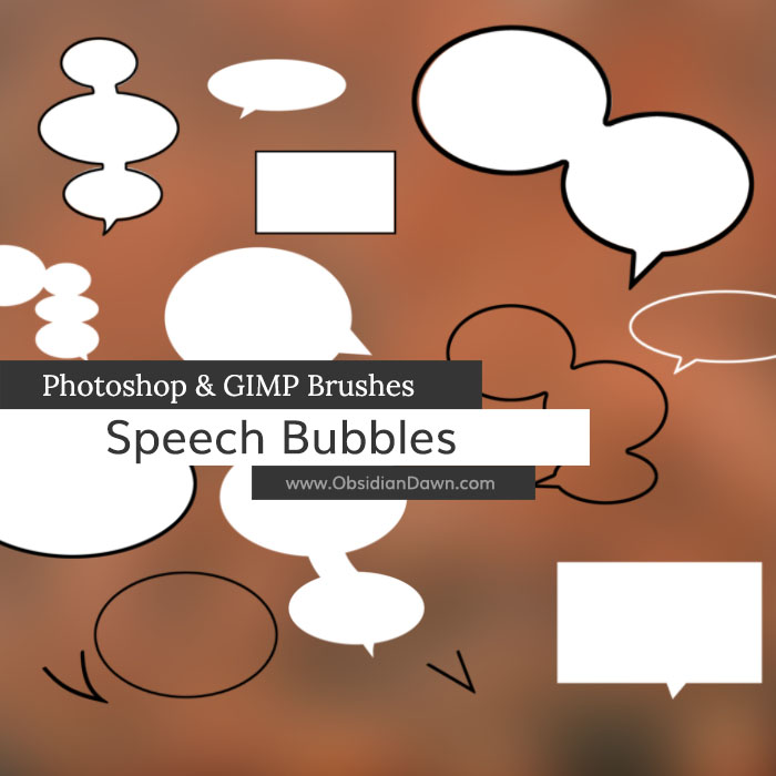 Speech Bubbles Photoshop and GIMP Brushes