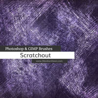 Scratchout Photoshop and GIMP Brushes by redheadstock