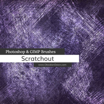 Scratchout Photoshop and GIMP Brushes