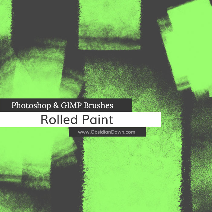 Rolled Paint Photoshop and GIMP Brushes by redheadstock on DeviantArt