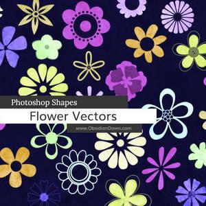 Flower Vectors Photoshop Custom Shapes