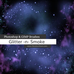 Glitter n Smoke Photoshop and GIMP Brushes by redheadstock