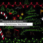 Christmas Vector Photoshop and GIMP Brushes