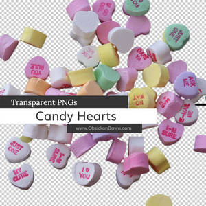 Candy Hearts Transparent PNGs