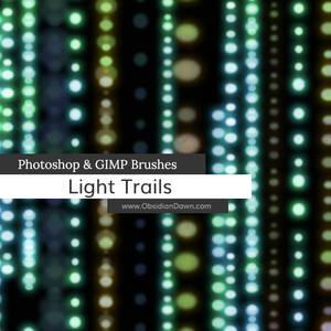 Light Trails Photoshop and GIMP Brushes