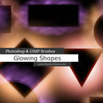 Glowing Shapes Borders Photoshop and GIMP Brushes