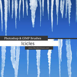 Icicles Photoshop and GIMP Brushes