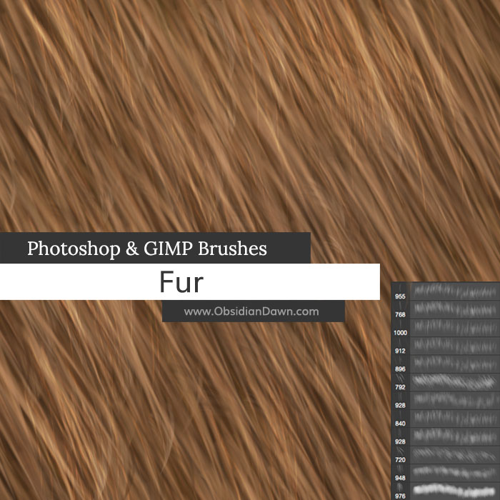 Fur Photoshop Brushes by redheadstock