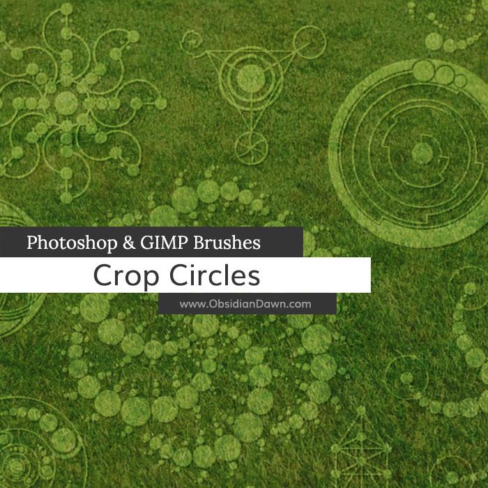 Crop Circles Photoshop and GIMP Brushes
