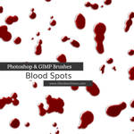 Blood Spots Photoshop and GIMP Brushes