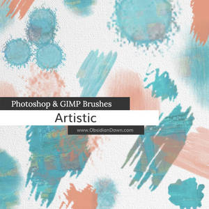 Artistic Photoshop and GIMP Brushes