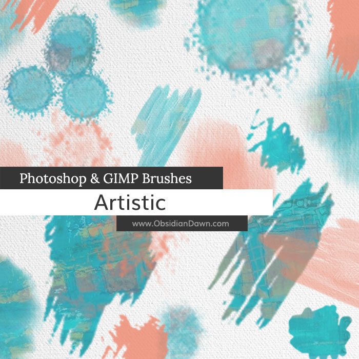 Artistic Photoshop and GIMP Brushes by redheadstock