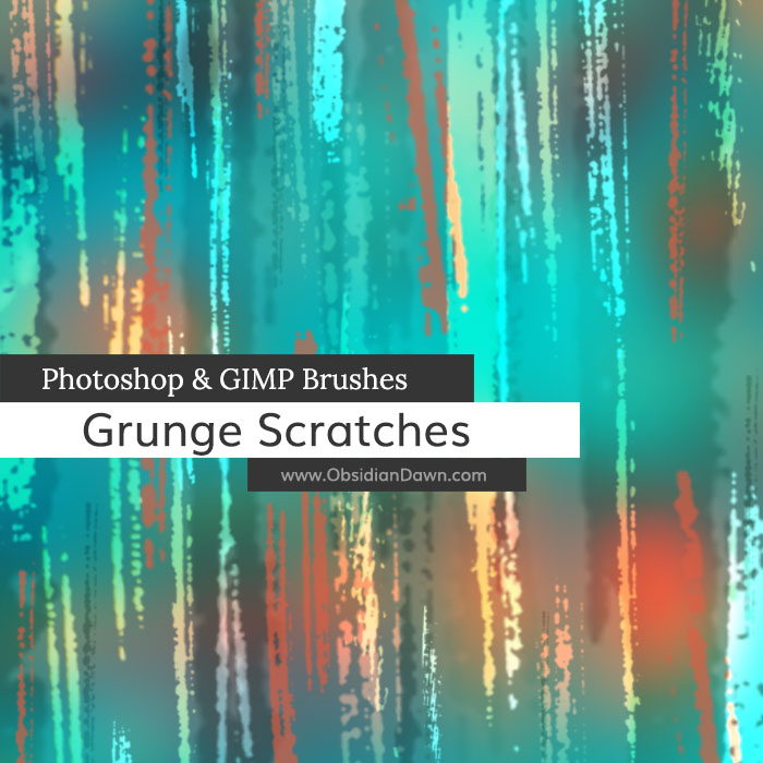 Grunge Scratches Photoshop and GIMP Brushes