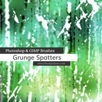 Grunge Spatters Photoshop and GIMP Brushes by redheadstock