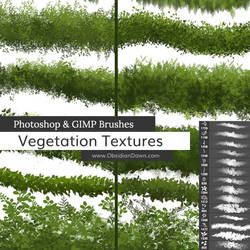 Vegetation / Foliage Textures Photoshop Brushes