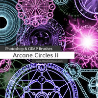 Arcane Circles II Photoshop and GIMP Brushes