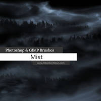 Mist Photoshop and GIMP Brushes by redheadstock