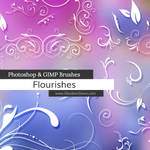 Flourishes Photoshop and GIMP Brushes