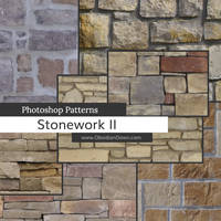 Stonework II Photoshop Patterns by redheadstock