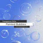 Hand Painted Bubbles Transparent PNGs