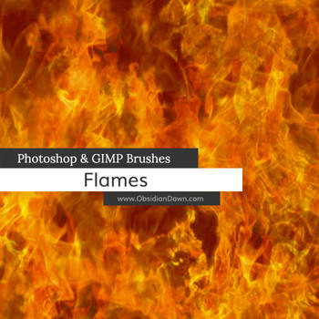 Flames - Fire Photoshop and GIMP Brushes by redheadstock