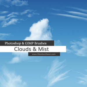 Clouds - Mist Photoshop and GIMP Brushes