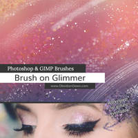 Brush on Glimmer Photoshop and GIMP Brushes