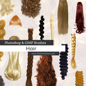 Hair Photoshop and GIMP Brushes