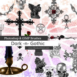Dark -N- Gothic Photoshop and GIMP Brushes by redheadstock