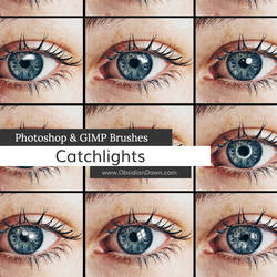 Catchlights Photoshop and GIMP Brushes by redheadstock