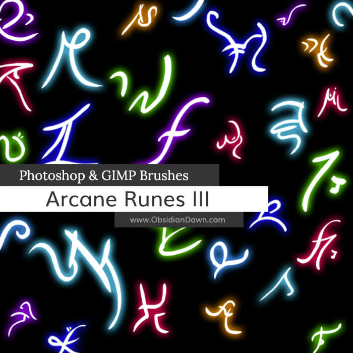 Arcane Runes III Photoshop and GIMP Brushes