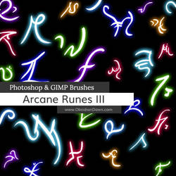 Arcane Runes III Photoshop and GIMP Brushes