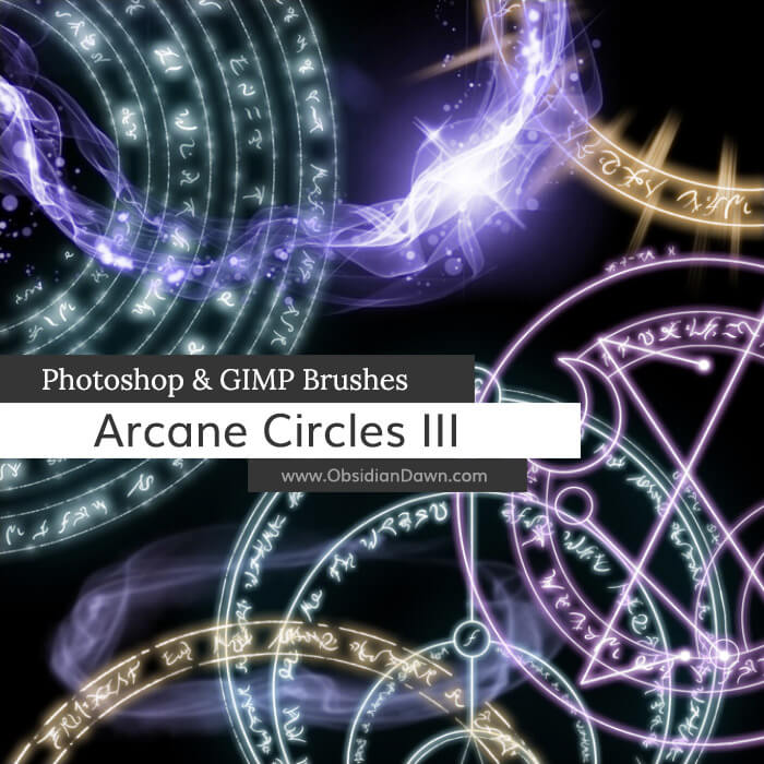 Arcane Circles III Photoshop and GIMP Brushes