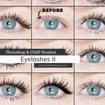 Eyelashes II Photoshop and GIMP Brushes